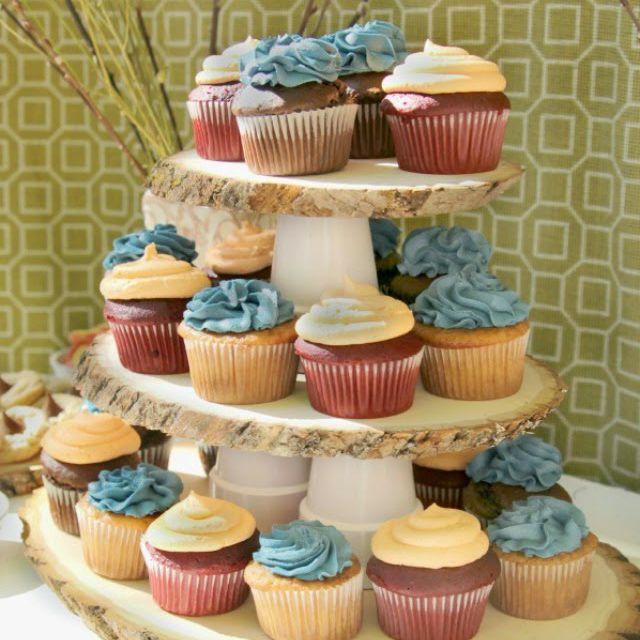 DIY Rustic Wood Cupcake Stand