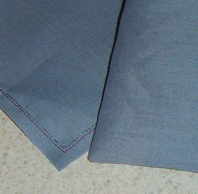 Corners sewn into fabric