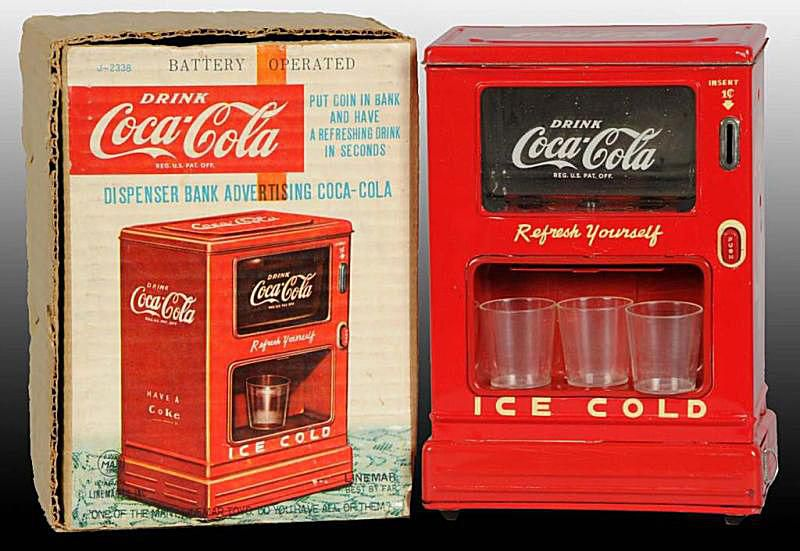 Linemar Coca-Cola Battery-Operated Machine Toy