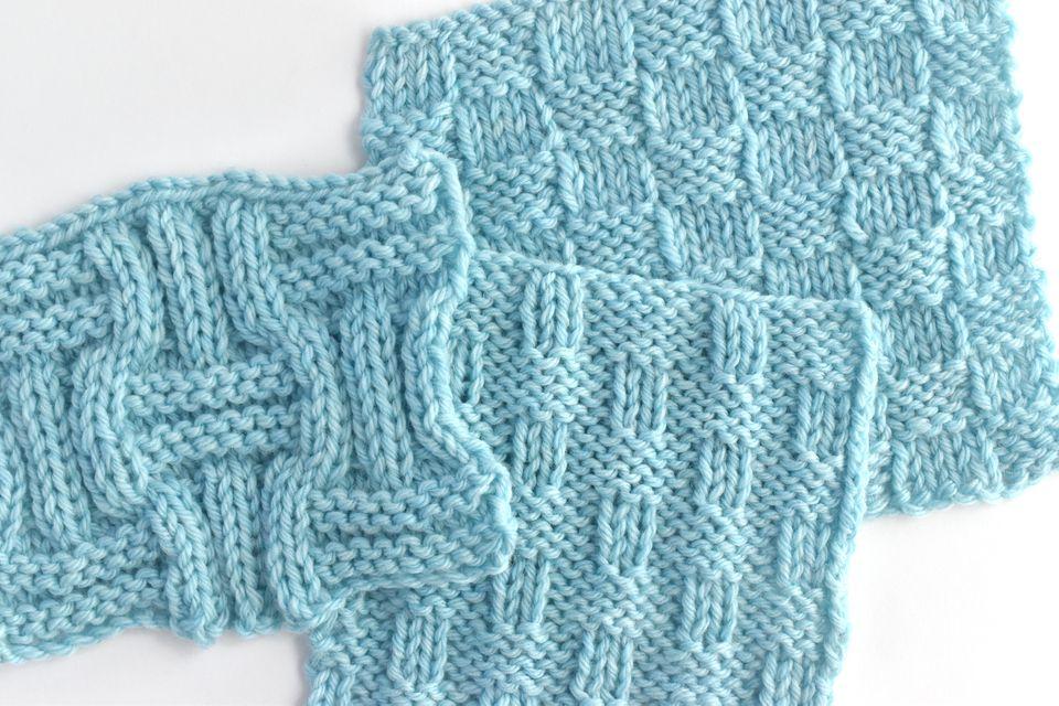 Basketweave Knitting Samples