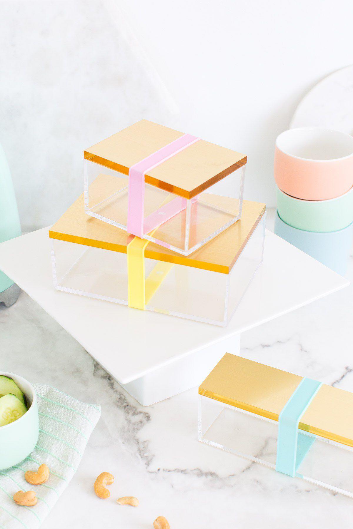 DIY Gold Bento Box
