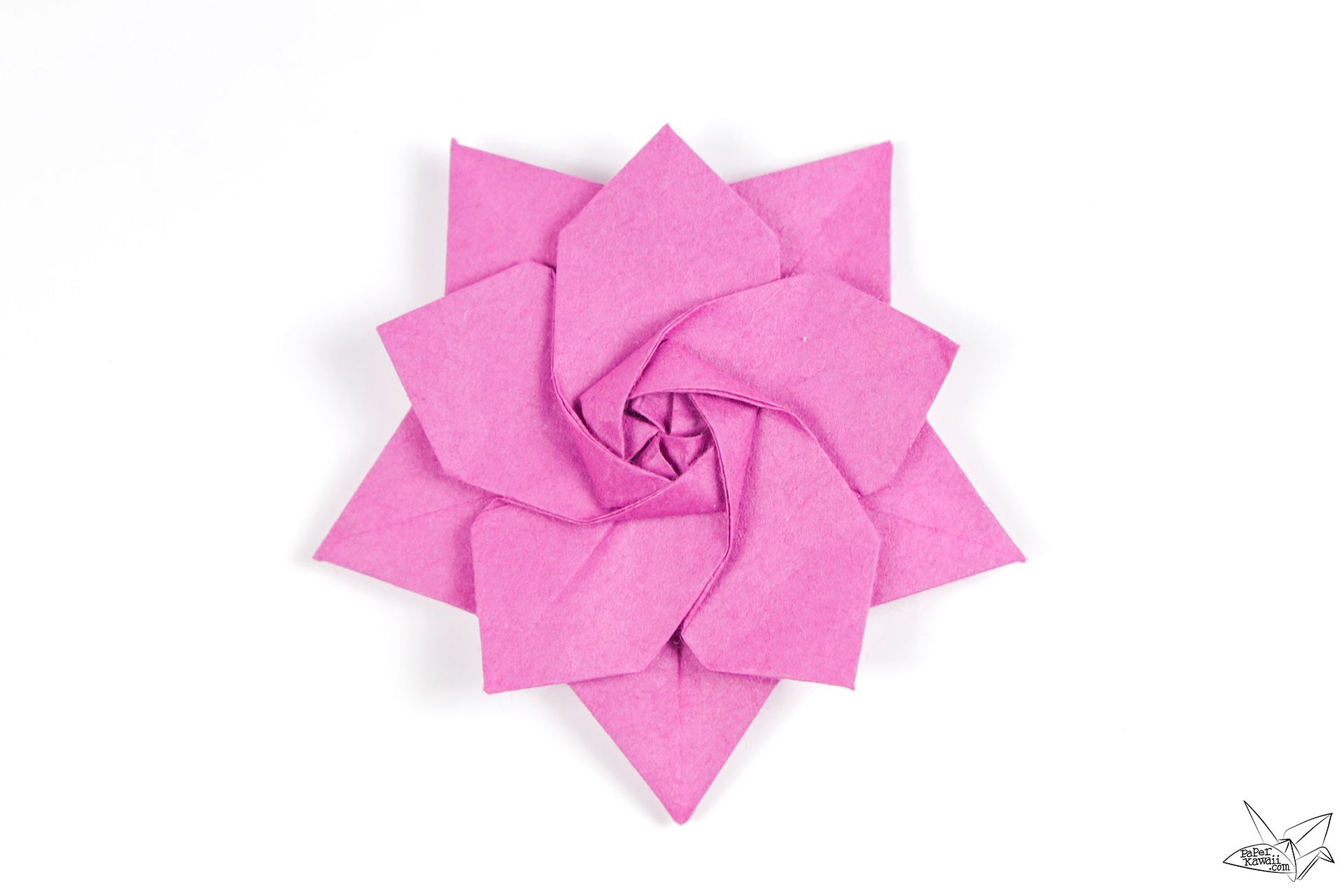 Origami pink sakura star.