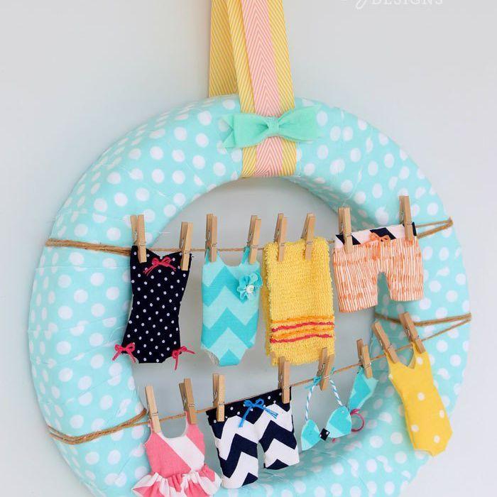 swimsuit wreath