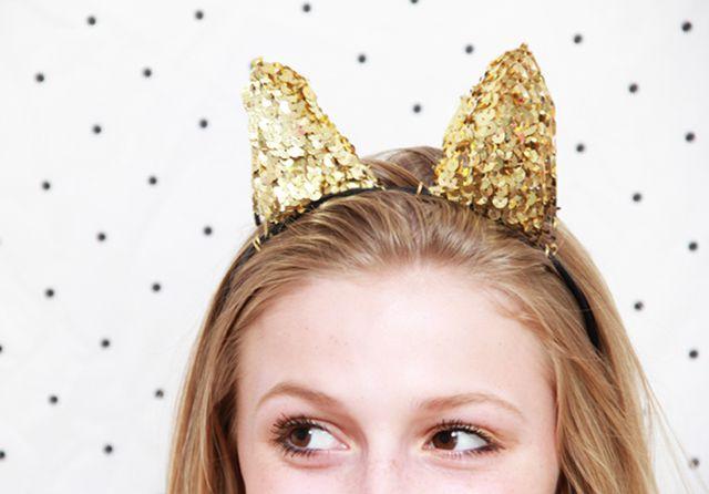 DIY Sequin Animal Ears