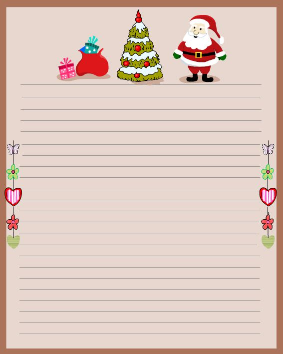 It is a picture of Universal Printable Santa Stationary