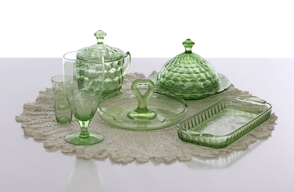 American Depression Glass At Estate Sale