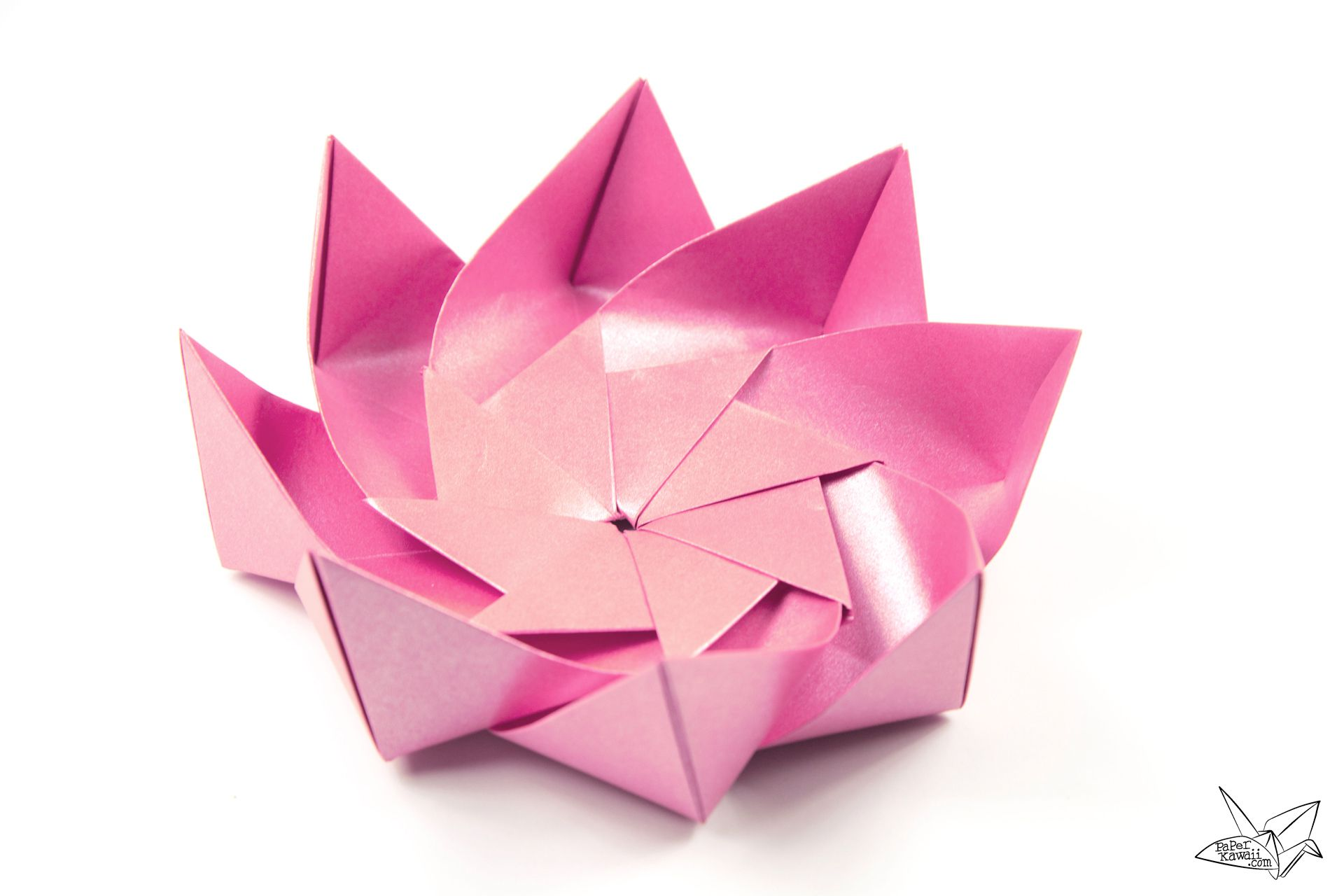 Pink Origami Lotus Flower