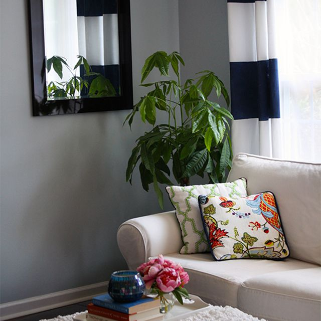 diy painted curtain tutorial