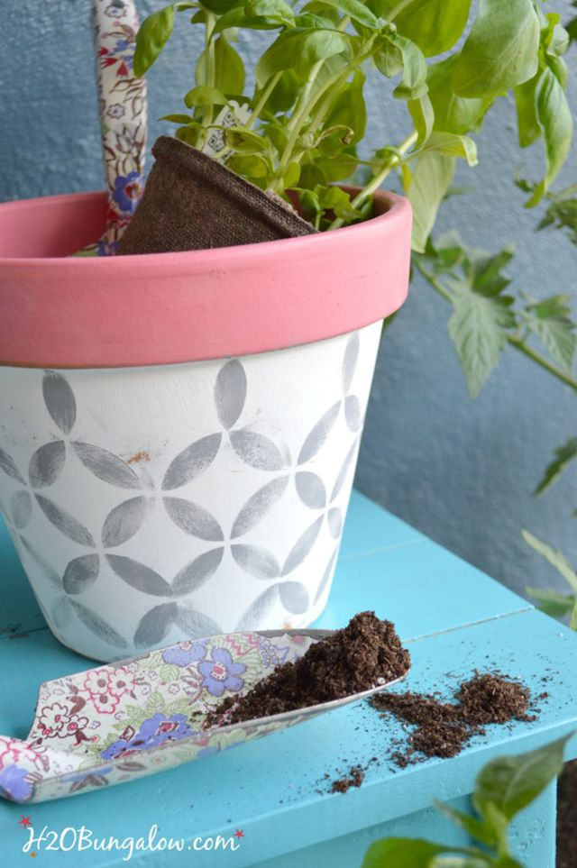 painted flower pot tutorial