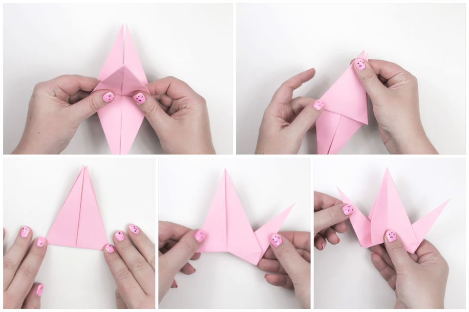 how to make a flapping bird origami instructions