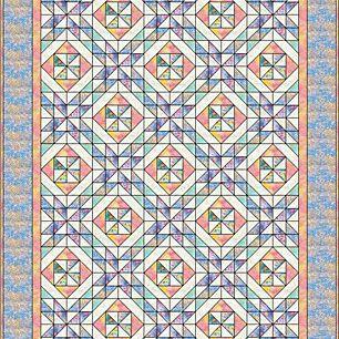 Spring Pinwheels Quilt Pattern