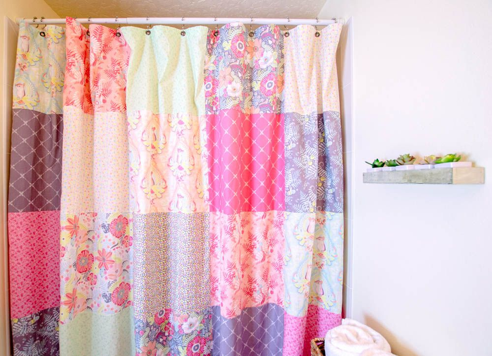 Sew a Patchwork Shower Curtain