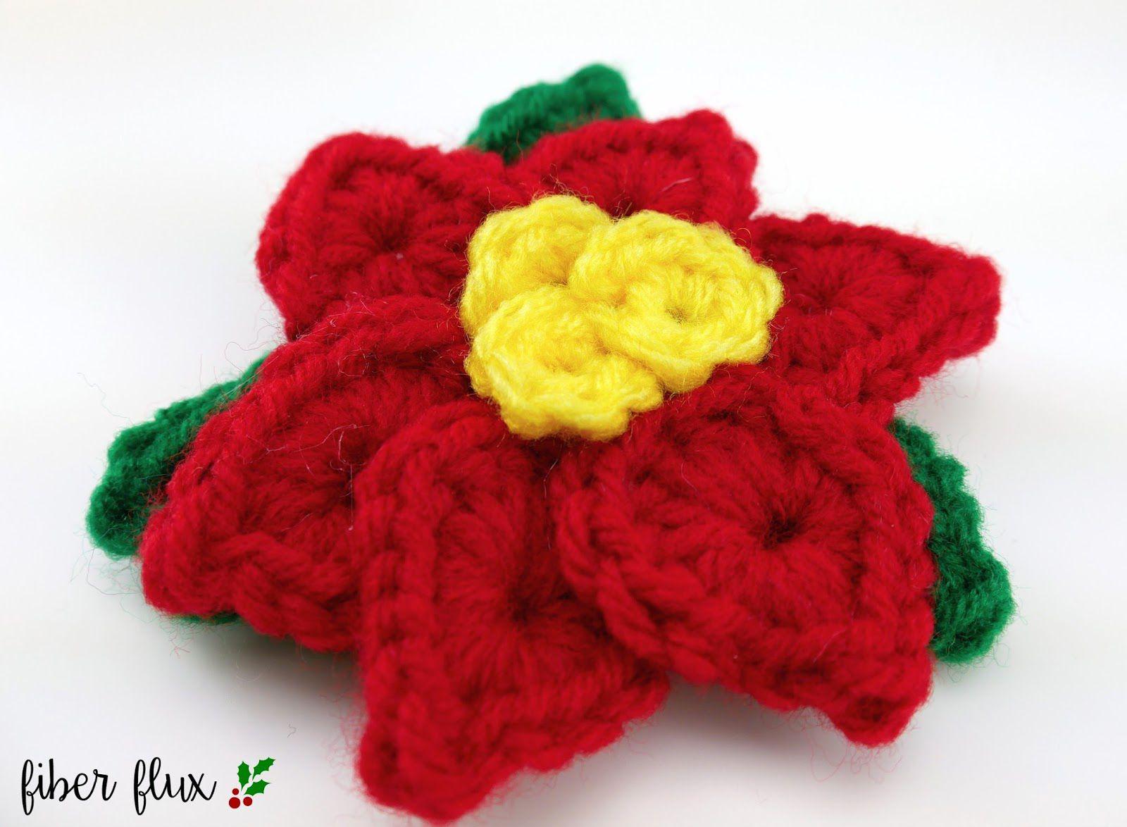 Crochet Holiday Poinsettia Pattern