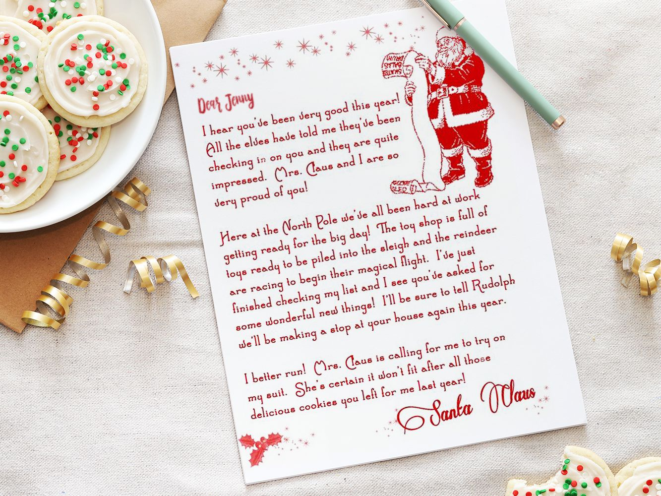 11 Free Letter From Santa Templates