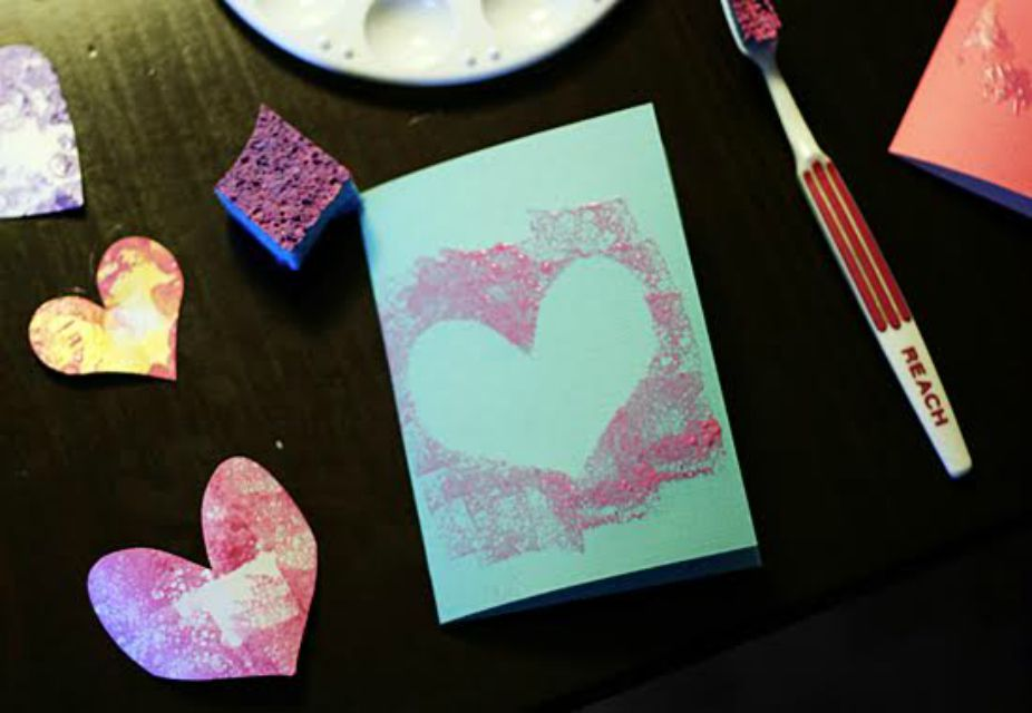 Simple Stenciled Heart Cards