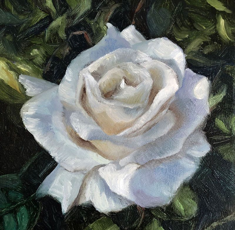 flower oil painting idea