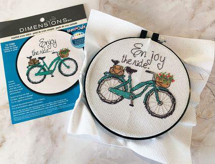 Enjoy the Ride Cross Stitch Kit
