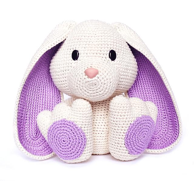 Mini Rabbit 2.5inches - PDF amigurumi crochet pattern | Crochet ... | 595x640