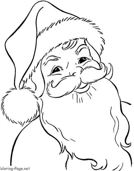 Picture Of A Printable Santa Claus Coloring Page