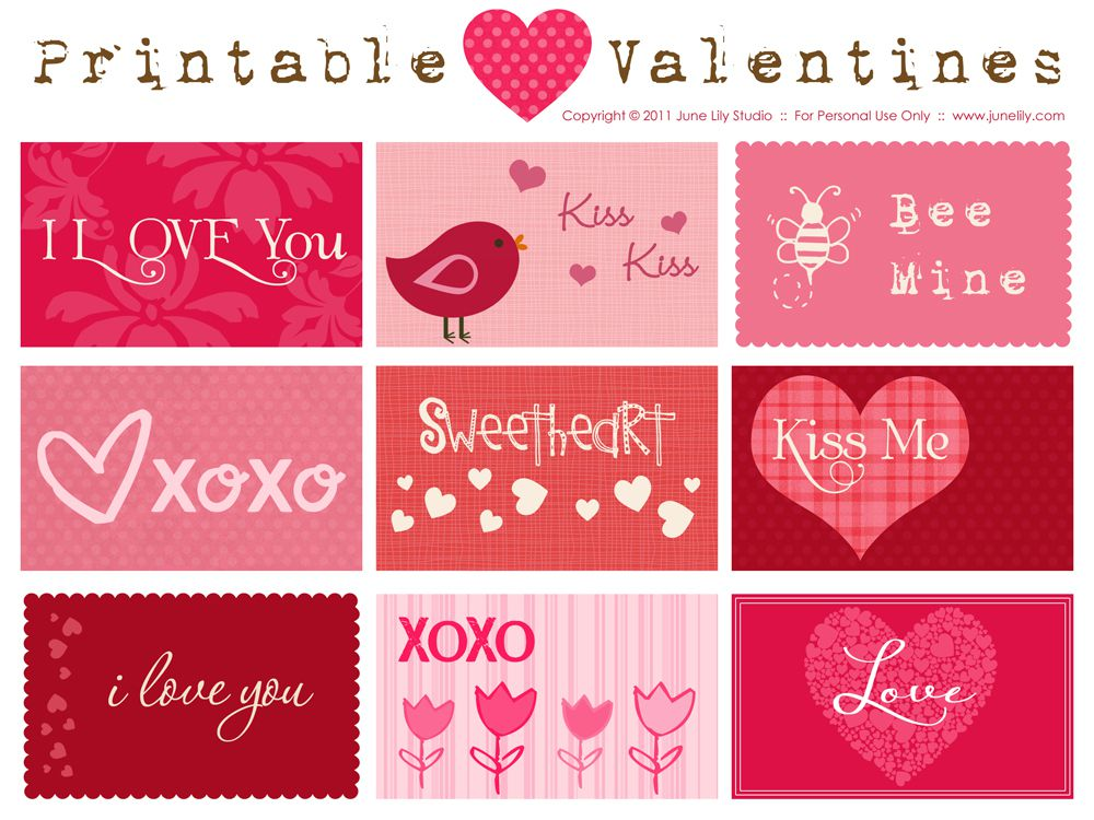 free printable valentine cards from june lily