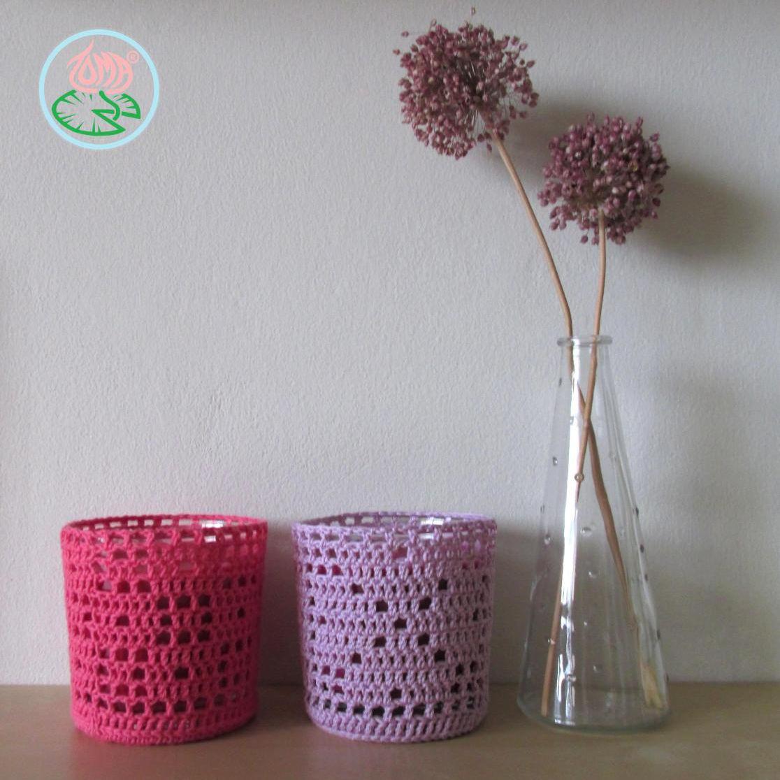 Filet Crochet Candle Cozy Patterns