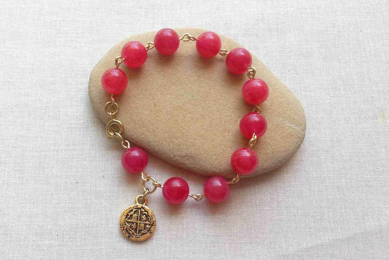 Rosary loop bracelet