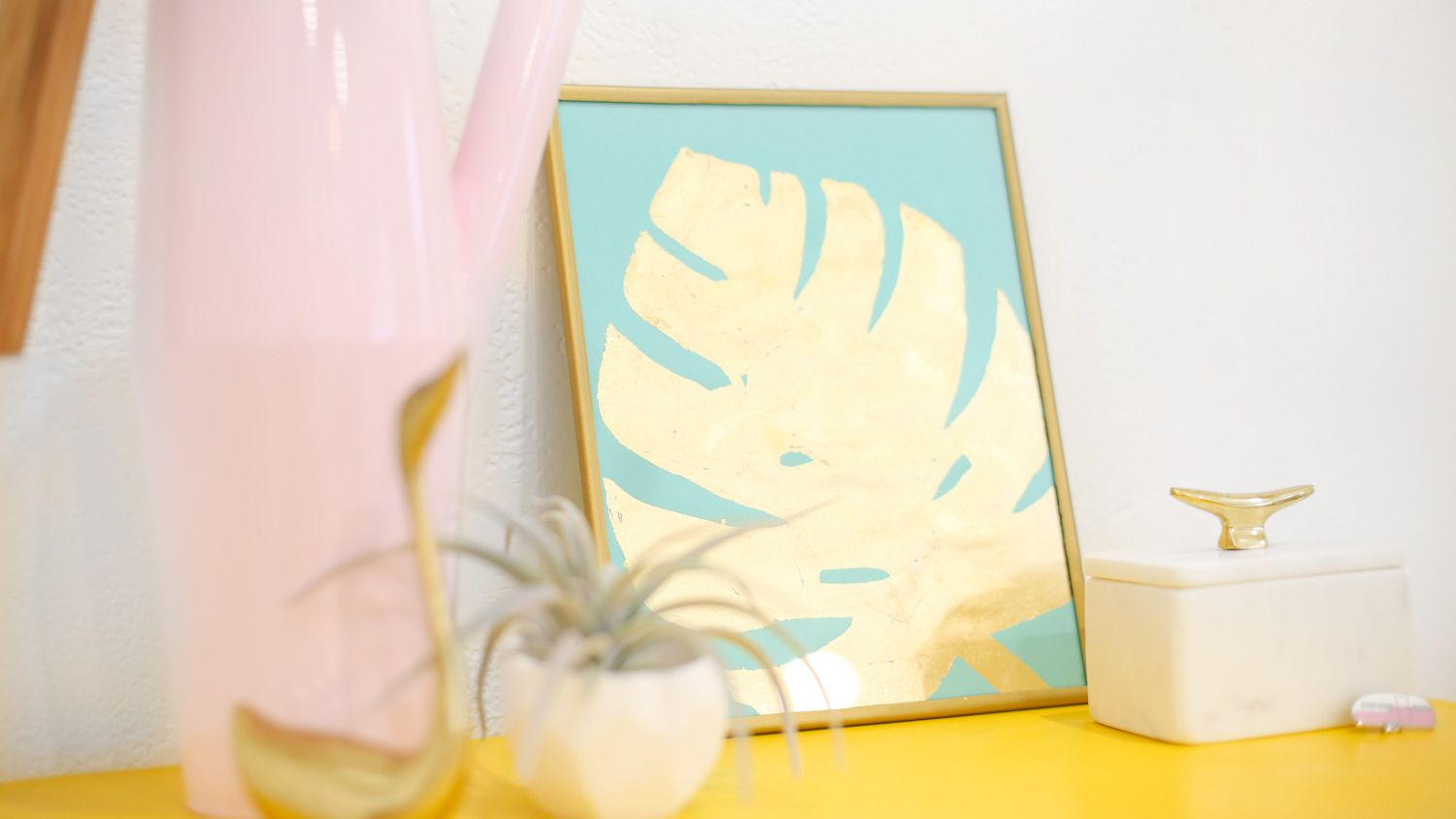 How To Diy A Gold Tropical Leaf Art Print This tutorial was a weirdly highly requested video, as i use tropical leaves in the background of my prints quite a lot. how to diy a gold tropical leaf art print