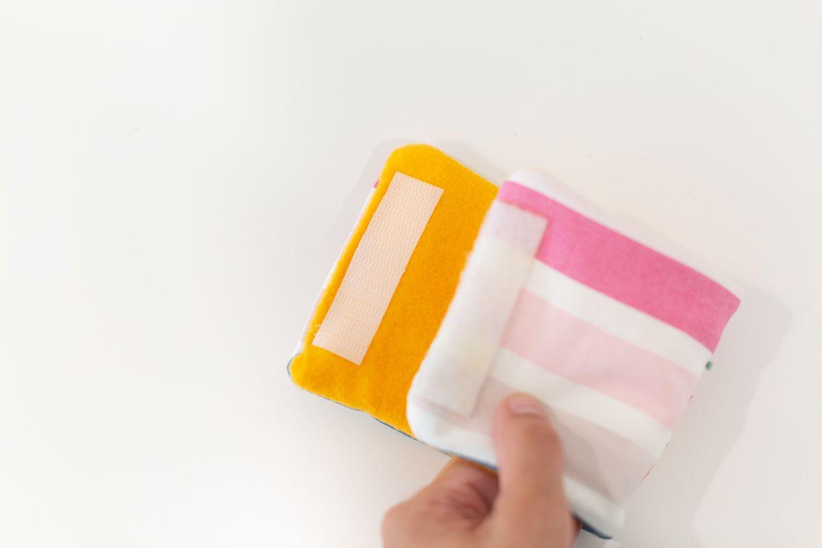 Velcro on a DIY koozie