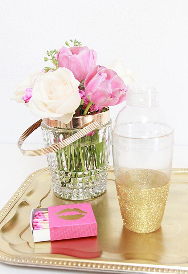 DIY Glitter Cocktail Shaker