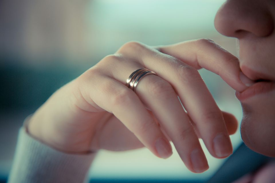 ring on woman's finger