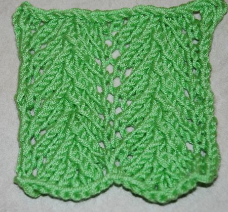 Learn Lace Knitting With The Vine Lace Pattern