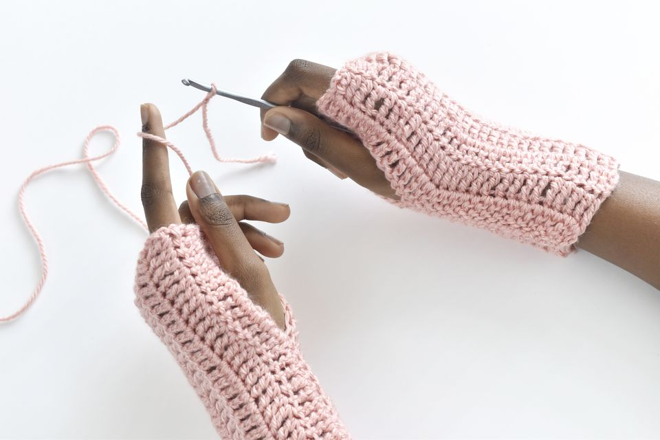 Fingerless Gloves Treble Crochet Pattern for Beginners