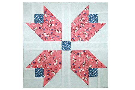 Patchwork Tulips Quilt Block Pattern