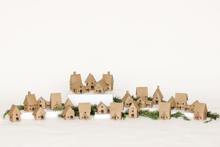 Paper Advent village