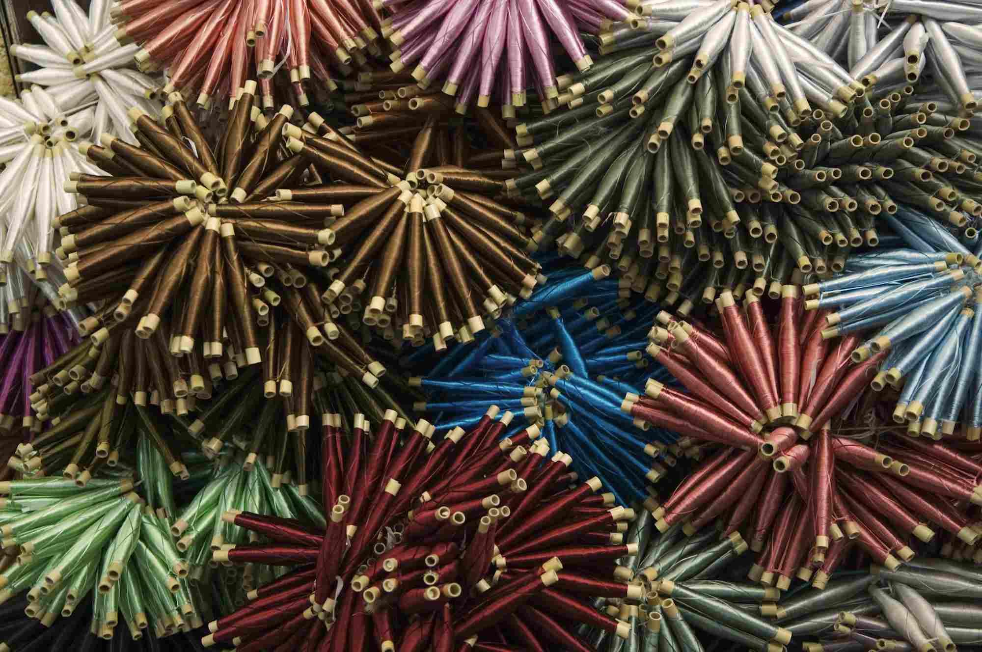 Bobbins of Silk Thread in Bazaar