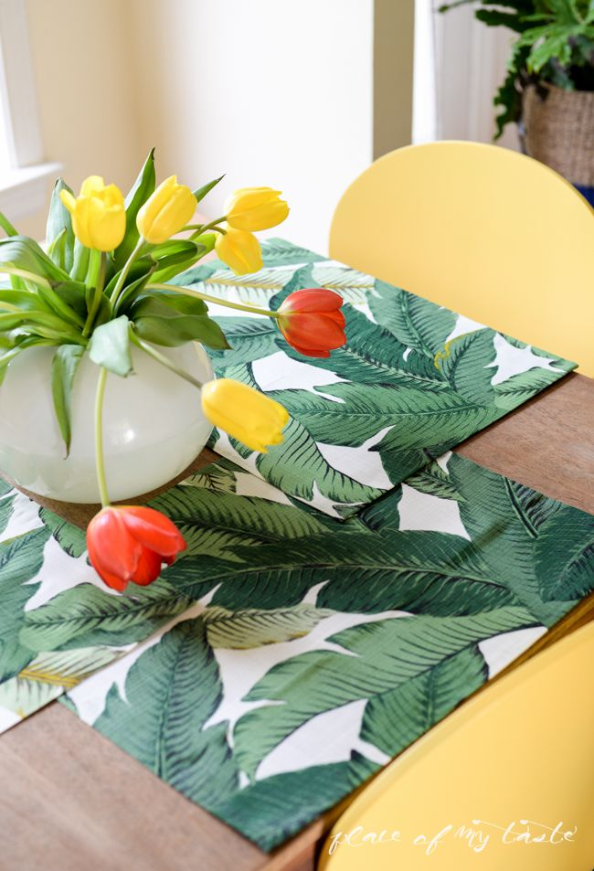 Tropical placemats