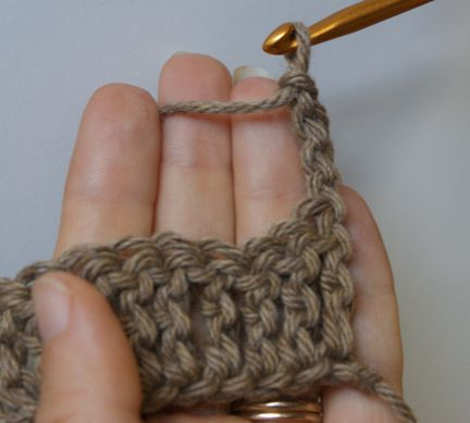 Turn the Piece of Crochet Work Over to the Other Side