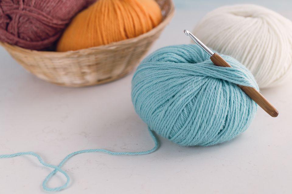 Yarn and crochet needle