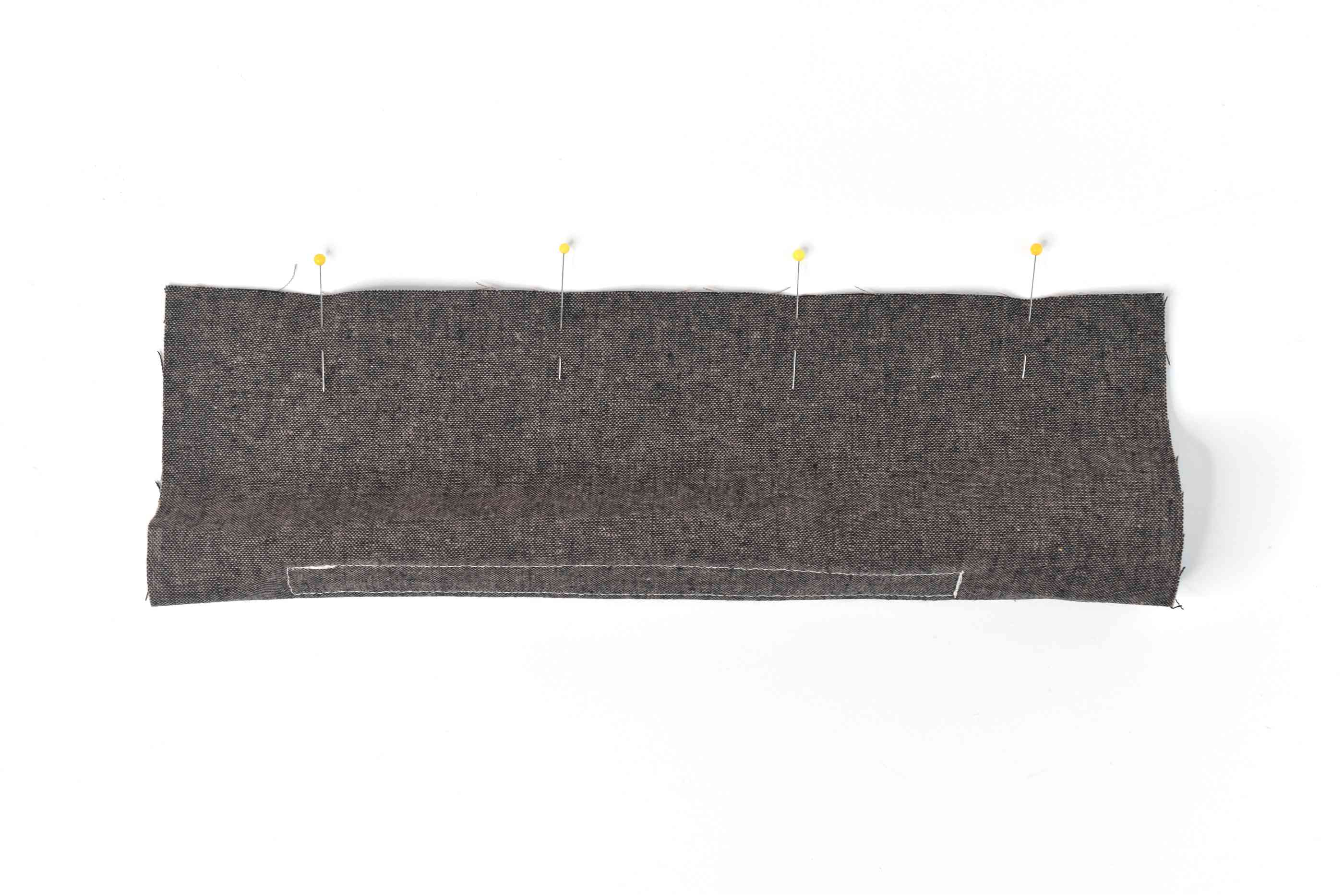 Sew the Fabric Into a Tube Shape