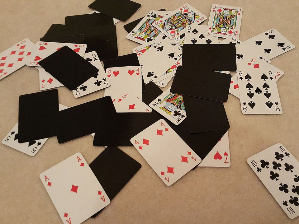 Playing Cards Scattered