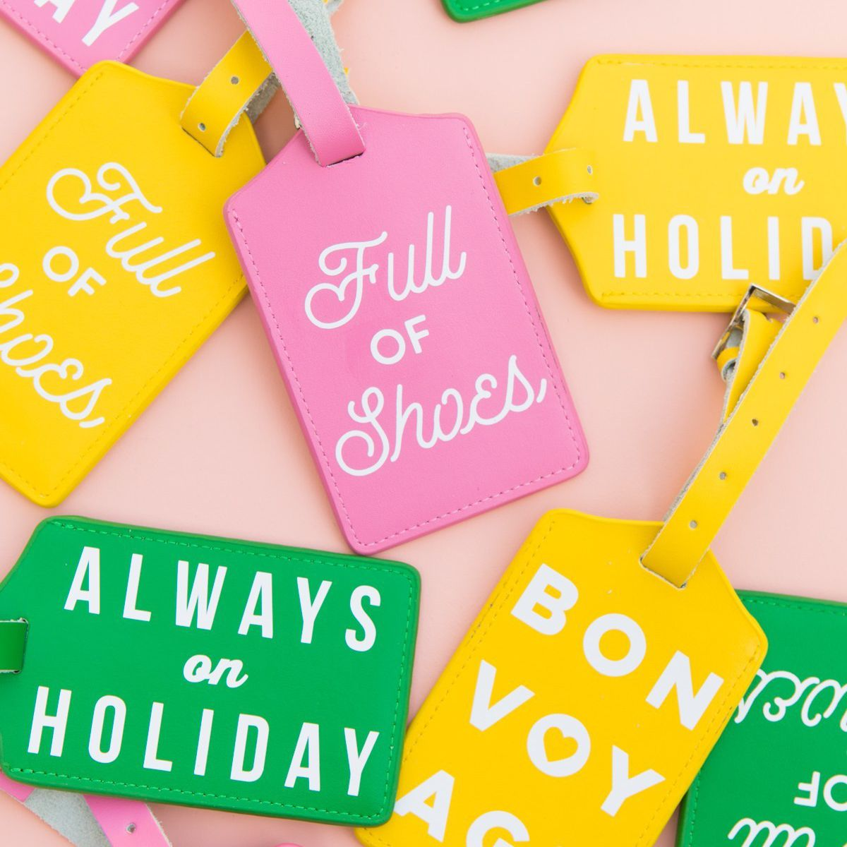 Typographic Luggage Tags
