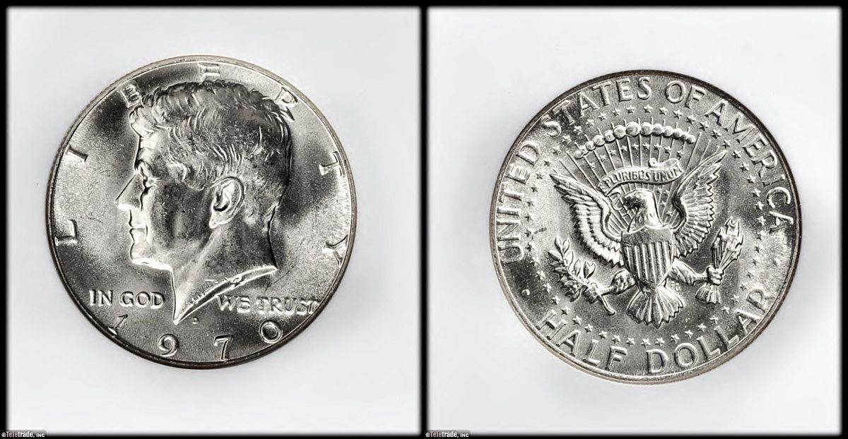 Kennedy Half Dollar Graded Mint State-63 (MS63)