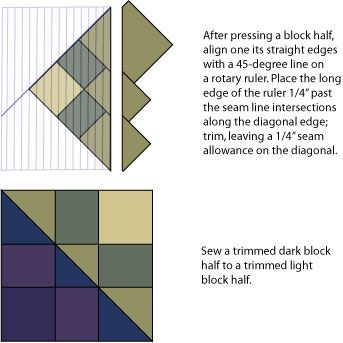 Split Nine Patch Quilt Pattern