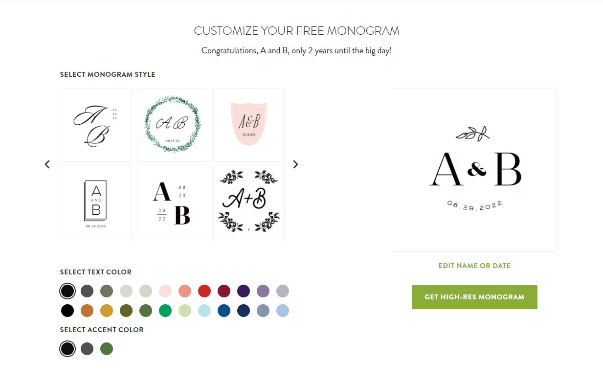 An online monogram creator