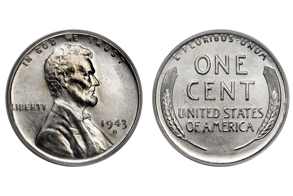 1943-D Lincoln Cent Made out of Zinc Plated Steel