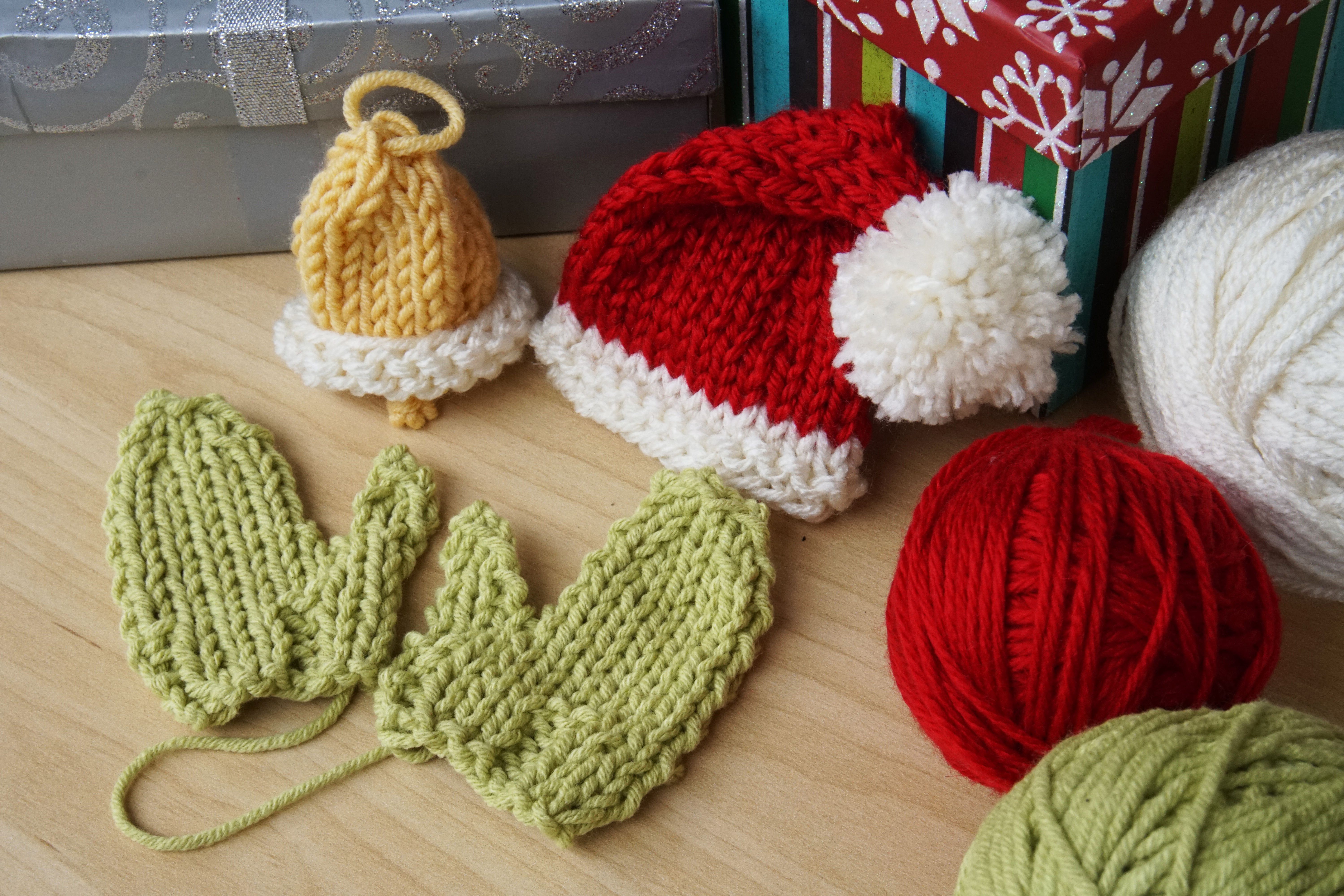 3 Free Knitting Patterns for Homemade Christmas Ornaments