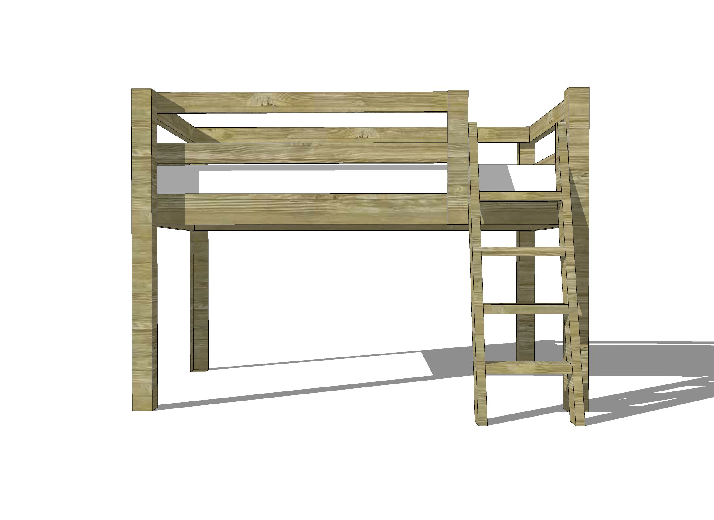 15 Free Diy Loft Bed Plans For Kids And Adults Diagram Of Computer Parts