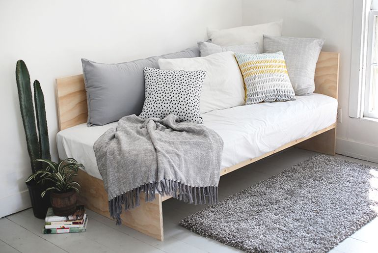DIY Plywood Daybed