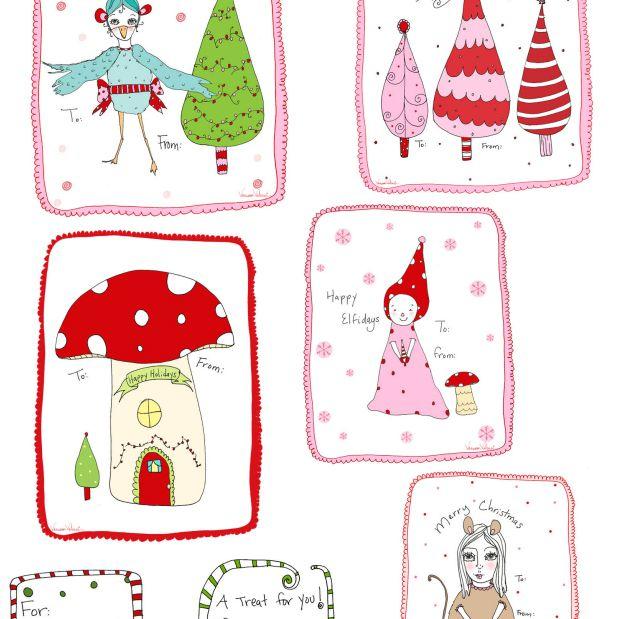36 Sets Of Free Printable Christmas Gift Tags