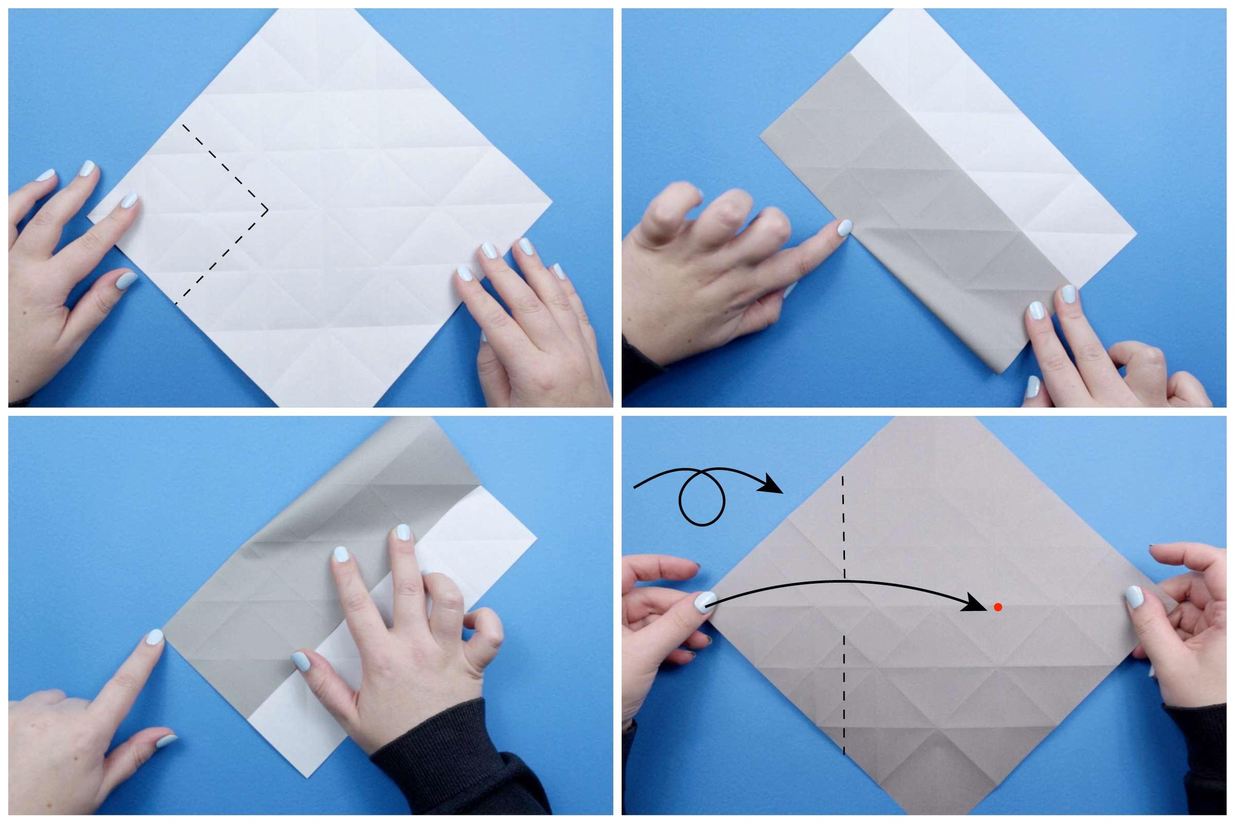 Origami elephant tutorial step three